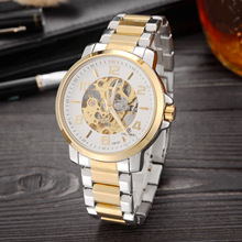 лучшая цена GEDIMAI Brand Men Watches Automatic Mechanical Watch Tourbillon Sport Clock Leather Casual Wristwatch Gold Relojes Hombre