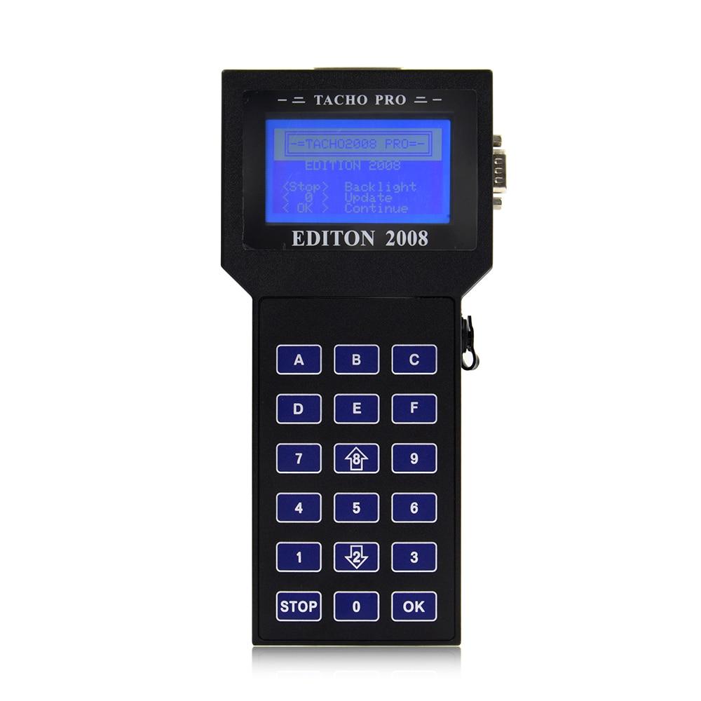2017 Tacho Pro 2008 Unlock Version Mileage Correction Tool Tacho Odometer Programmer DHL Free Shipping