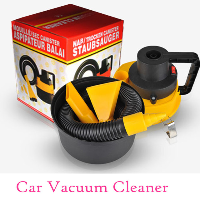 Car Vacuum Cleaner with Brush / Crevice / Nozzle Head Portable Wet...