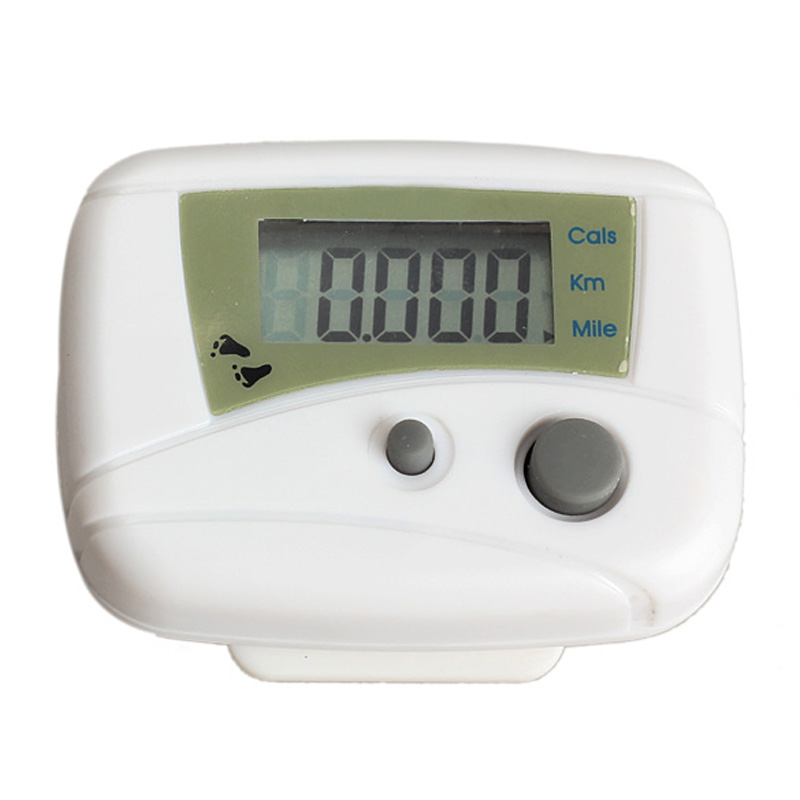 Waterproof Digital Backlight Clock Stopwatch LCD Run Step Pedometer Jogging Walking Distance Calorie Counter Passometer