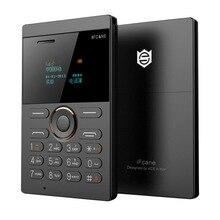 iFcane E1 FM Radio MP3 Vibration Bluetooth Ultra thin Card Mini Small Mobile