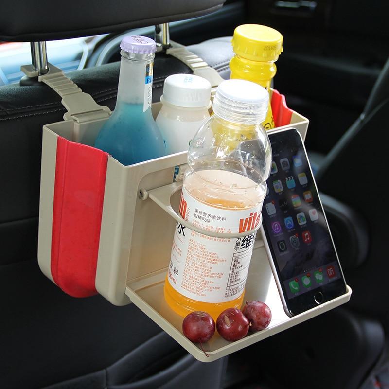 Складной заднем сиденье автомобиля организатор ABS + TPE висит DrinkCup лоток держатель подставки настольного авто на заднем сиденье для хранения ... ...