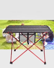 Express Free Shipping Aluminium Alloy Picnic Table Waterproof Ultra-light Durable Folding Table Desk For Outdoor Camping Picnic
