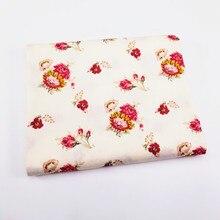 Цветок печатных хлопок саржа ткань для DIY швейные лоскутное Стегальную куклы ткани украшения дома ручной рукоделие материал