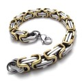 Gold and Silver Stainless Steel Bracelet ,Titanium Steel Men Chain Bracelet, Best Men Gift