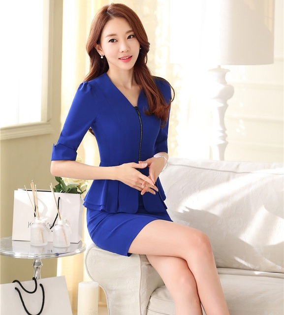599147efc508f Formal Uniform Styles Spring Summer Professional Business Suits With Jackets  And Skirt Female Blazer Outfits Office