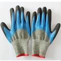 Нитрил, смоченным резиновые перчатки с покрытием труда защитные перчатки нитрил palm рабочие перчатки с покрытием дышащий guantes anticorte