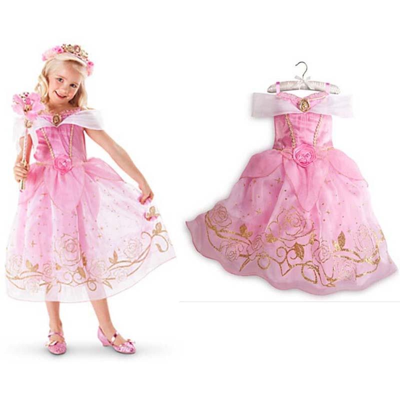Vestidos para niñas 2018 Moda Sofia Cinderella Rapunzel Belle - Ropa de ninos - foto 4