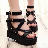 Fashion Sandals Summer Wedges Women S Sandals Platform Lace Belt Bow Flip Flops Open Toe High
