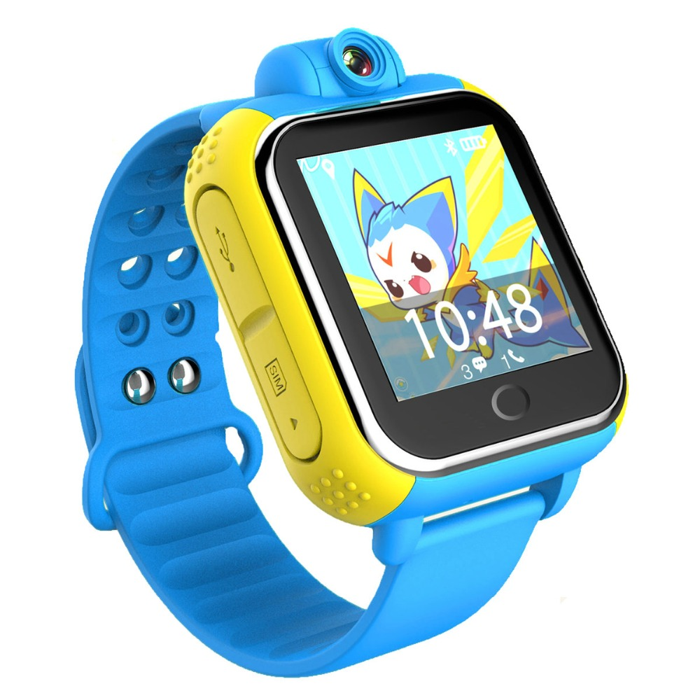 720P Camera GPS/LBS/WIFI Location 1.54' Touch Screen Kid Child 3G Android 4.0 Smart Wristwatch SOS Monitor Tracker Alarm Watch english smart watch d100 elderly heart rate monitor fall down alarm function gps lbs wifi tracker montre connecter android f36
