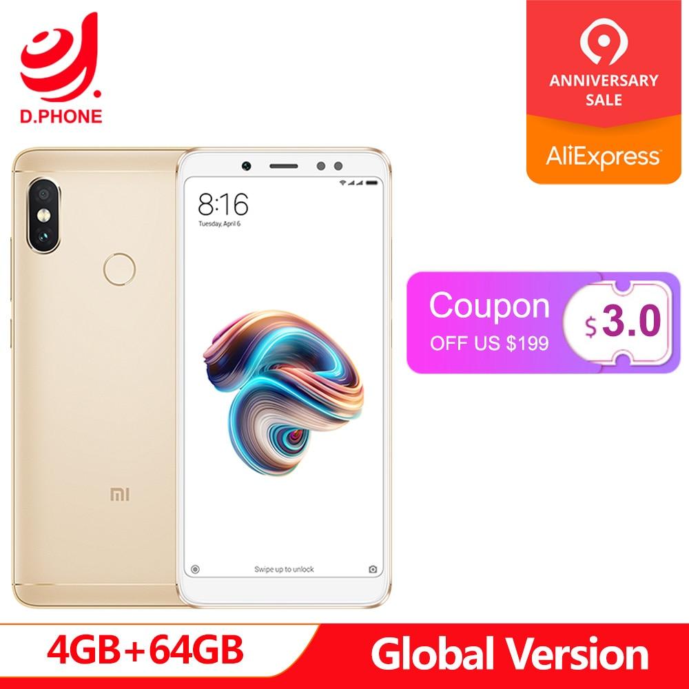 """Globale Versione 2018 del Nuovo Xiaomi Redmi Nota 5 5.99 """"FHD Snapdragon 636 MIUI 9 4 GB di RAM 64 GB ROM 4G LTE Smartphone 13.0MP 4000 mAh"""
