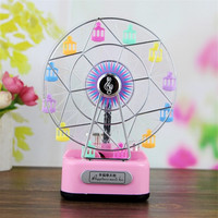 2016 New Romantic Illuminated Ferris Wheel Music Box Octave Rotating Color Flash Size 13 9 17