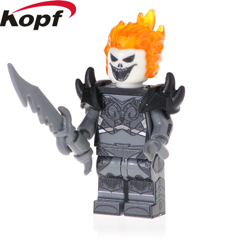Toys & Hobbies Pg1635 Single Sale Super Heroes Woman Ghost Rider Wonder Girl Deadpool Wolverine Figures Building Blocks Gift Toys For Children Beneficial To The Sperm Blocks