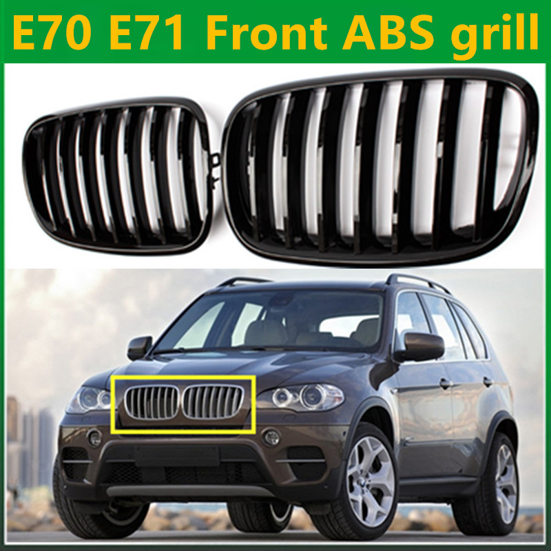 E70 E71 Avant gril ABS Pour BMW X5 E70 2007-2013 et X6 E71 2008-2013 30d 40d