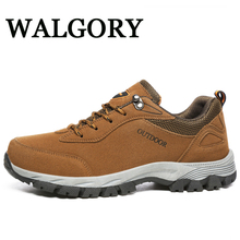 WALGORY Men Big Size 48 49 Fashion Shoe Mens Flock Comfortable  Outdoor Casual Shoes Lace-Up Spring/ Autumn Father Sneakers