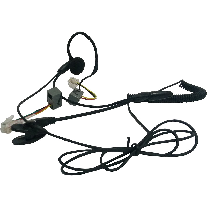 NEW Professional RJ11 plug monaural call center telephones neckband phone headphones mic with 2 adapters for all telephones hands free headphones usb plug monaural headset call center computer customer service headset for pc telephone laptop skype chat