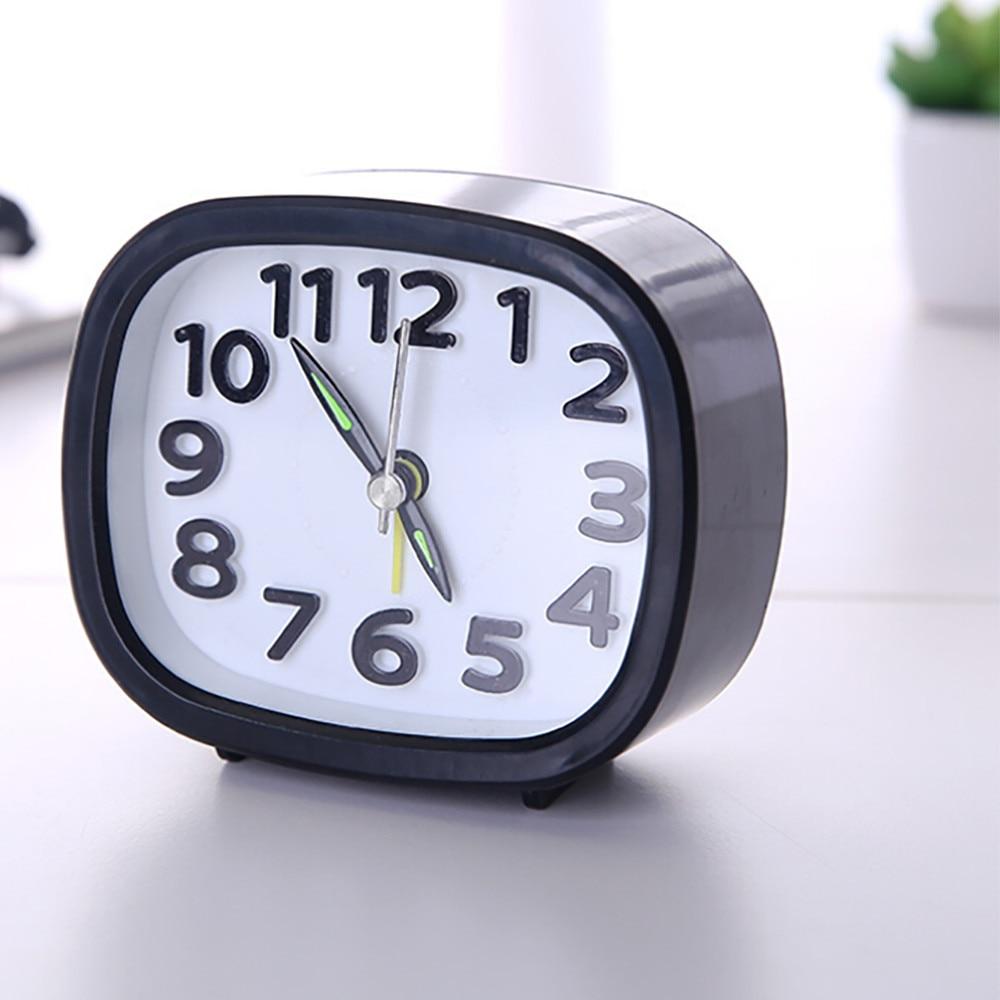 Clocks Rectangle Small Bed Compact Travel Quartz Beep Alarm Clock Cute Portable New Useful Time reminder despertador digital A70