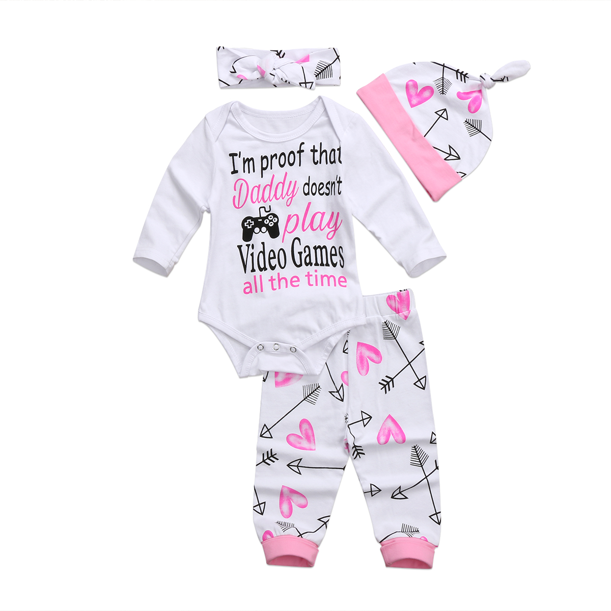 Punctual Pretty Baby Girls Pink Trousers 3-6 Months Girls' Clothing (newborn-5t) Clothing, Shoes & Accessories a