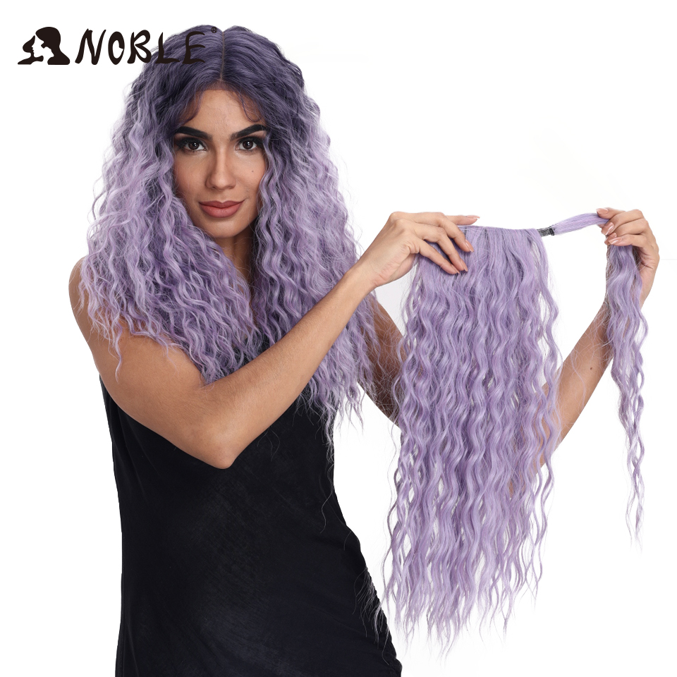Noble Synthetic Braided Lace Front Wigs For Women 22 Inch baby Curly Hair Heat Resistant Fiber Hair Wigs Premium Braid Wig