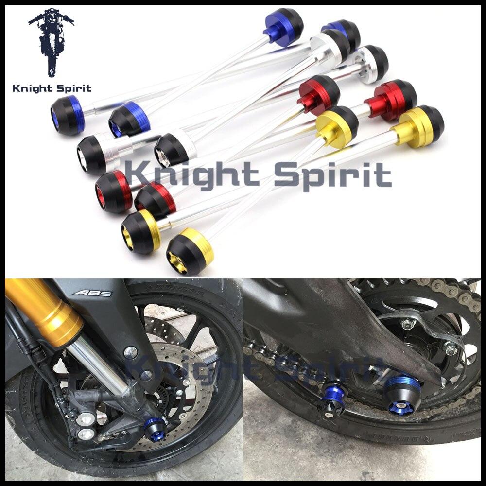 Для Yamaha mt10 mt-10 2016 2017 Мотоцикл с ЧПУ Алюминий передней и задней оси Вилы крушение ползунки колеса протектор 4 вида цветов