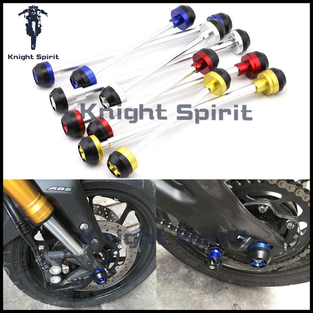 For YAMAHA MT10 MT 10 2016 2017 Motorcycle CNC Aluminum Front Rear Axle Fork
