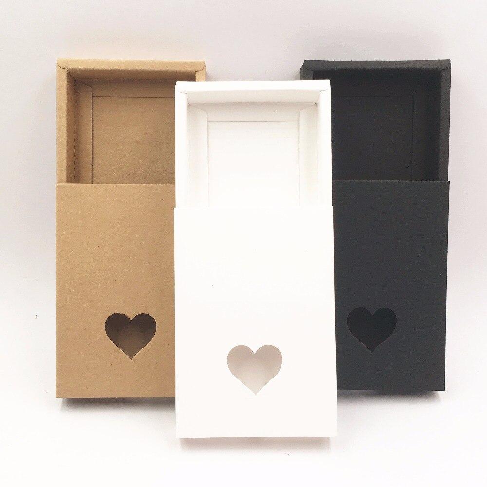 20 קופסות יח'\חבילה בעבודת יד חום נייר קראפט מגירת מתנות, DIY תיבת אריזה/אריזה מקרה עוגת ממתק \ תכשיטי \ \ שוקולד