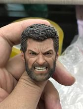 ELEVEN 1/6 Angry Logan Wolverine Head Sculpt Hugh Jackman For 12 Figure
