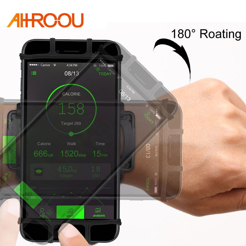 AHHROOU Sports Armband Case for iPhone X 8 7 8 Plus 7 Plus Universal Wrist Running Sport Arm Band Bag for 4-6 inch Phone DevicesAHHROOU Sports Armband Case for iPhone X 8 7 8 Plus 7 Plus Universal Wrist Running Sport Arm Band Bag for 4-6 inch Phone Devices