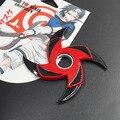 Shuriken Naruto Sharingan dobrar rotativa, dardos de rotação do rolamento, cos adereços, Anime arma modelo brinquedos, faca de brinquedo