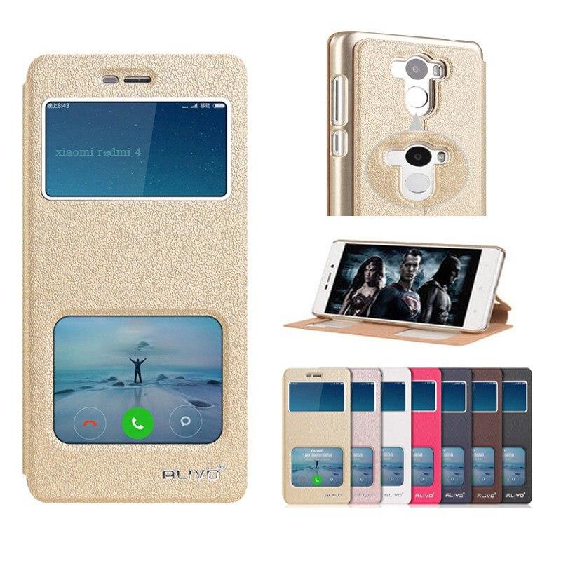 Para xiaomi redmi 4 pro primer case pu de cuero flip phone case back cubierta pa