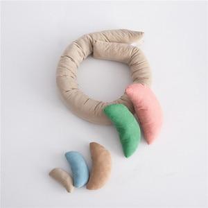 Image 4 - Nowy! Zdjęcie dziecka strzelać pszenica pączek pozowanie rekwizyty 6 sztuk/zestaw poduszki dla niemowląt pierścień noworodka Fotografia rekwizyty wypełniacz do koszy Fotografia