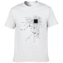 Computer CPU Core Cuore T-Shirt da Uomo GEEK Nerd Freak Hacker PC Gamer Tee  di Estate Manica Corta In Cotone T Shirt euro Size f24bd448e70