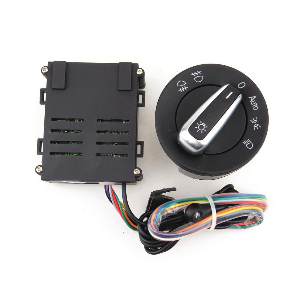 READXT Voiture Chrome Interrupteur + Auto lampe Capteur De Lumière Pour VW Golf 4 MK4 Nouvelle Jetta MK4 Passat B5 polo Bora Scarabée 5ND 941 431 B
