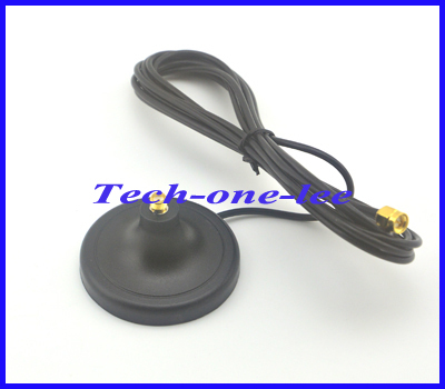 2.4G WIFI Antenna Magnet Base with SMA Plug connector gsm antenna 3g magnetic stand Free Shipping