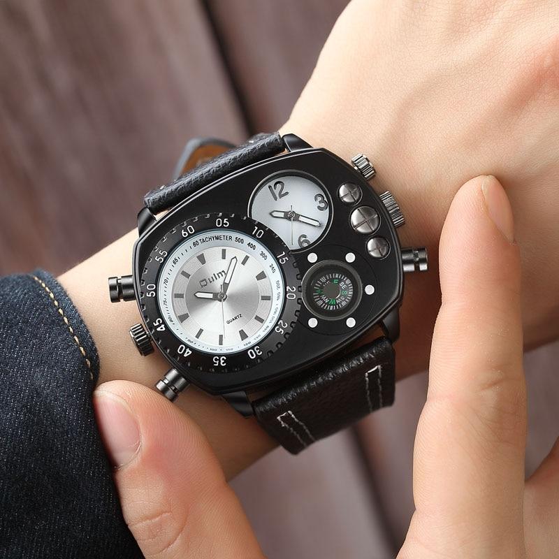 2019 New Man Watch Luxury Brand Oulm Watches Men Sports Watches Super Big Men Watches Quartz Horloges Mannen Relogio Masculino