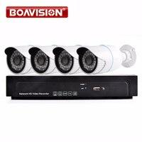 4PCS 4MP 2592 1520 Bullet IR POE IP Camera Video System 4CH 5MP POE NVR Recorder