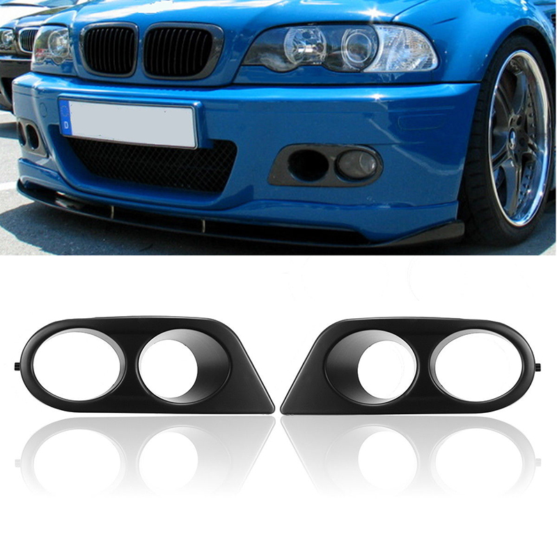 Car Front Bumper Fog Light Cover Surrounds Air Duct For BMW E46 M3 2001-2006 ownsun innovative super cob fog light angel eye bumper cover for skoda fabia scout