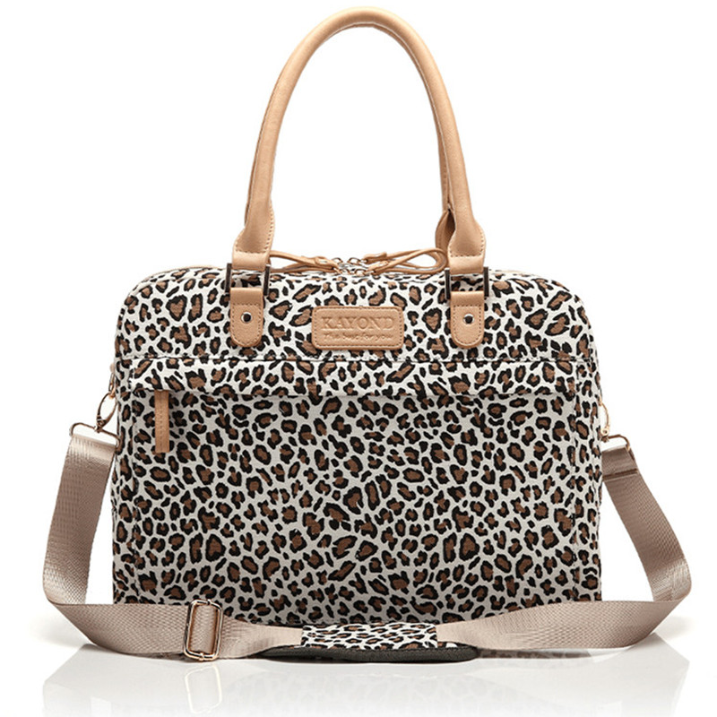 Fashion Leopard Laptop Messenger Canvas Messenger Bags Computer Laptop Handbag Bag for Macbook Air Pro 13 15 Inch Laptop Bag
