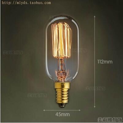 Купить с кэшбэком 2pcs 40W E14 Retro Lampada Edison Lamp Bulb Bombillas Vintage Light Ampoules Decoratives Incandescent Bulb