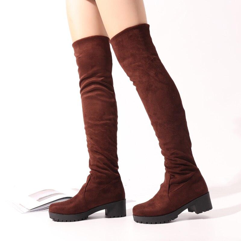e67e2059547 NIS Women Stretch Suede Over The Knee Boots