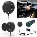 NFC Car Kit 3.5mm Bluetooth 3.0 Audio Receiver Hands-free Stereo Music Aux Speakerphone with 3.1A Dual USB Car Charger