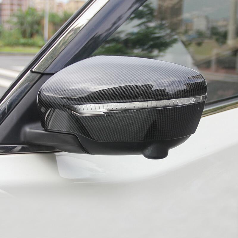 2015 2016 2017 2018 pour Nissan Qashqai J11 voiture rétroviseur rétroviseur garniture ABS Fibre de carbone Auto accessoires extérieurs