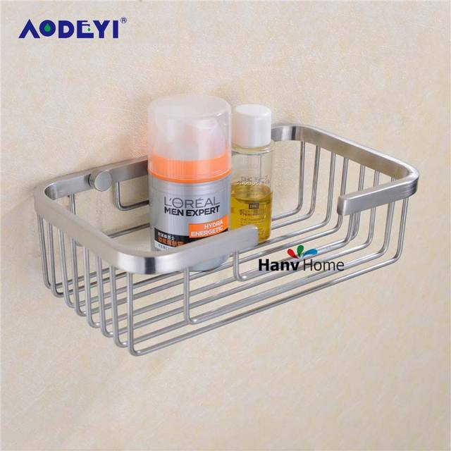 Aodeyi Stainless Steel Brushed Nickel Bathroom Shower Shelf Bracket Shelves Basket Wall Mounted Caddy Storage