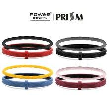 Power ionics prisma dupla fileira unisex íons à prova dunisex água pulseira de moda esportiva