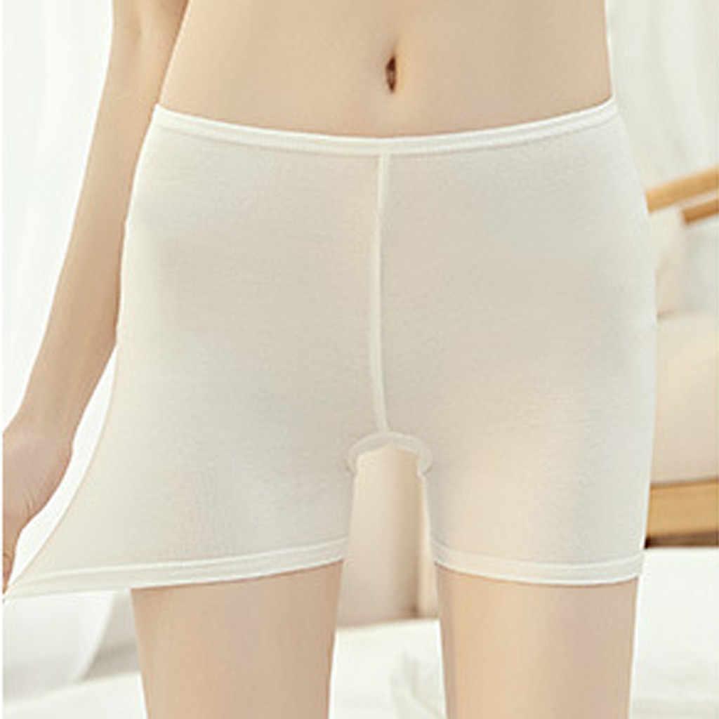 Sexy Frauen Sicherheits Kurze Hosen Plus Größe 5XL Anti Geleert Unterwäsche Hohe Elastische Taille Kurzen Boxer Shorty Mode Hosen # YL5