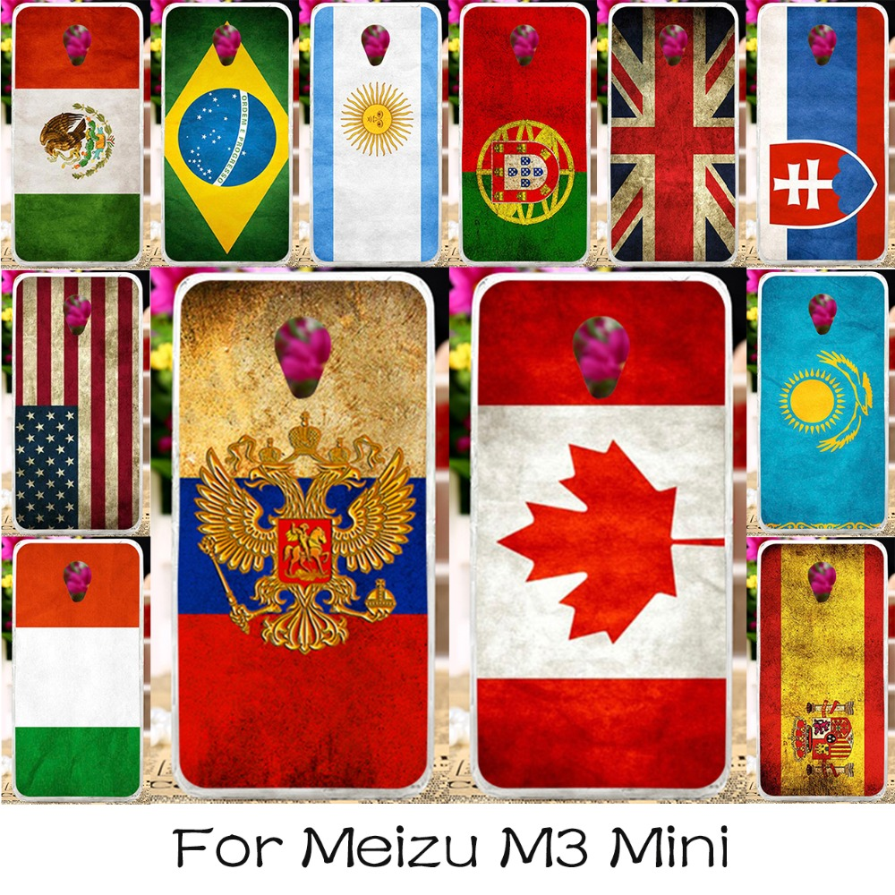 Silicone Plastic Phone Case For Meizu M3 Mini M3S Mini Blue Charm 3 3s Meilan 3 5.0 '' Meilan3 Cover National Flag America Shell