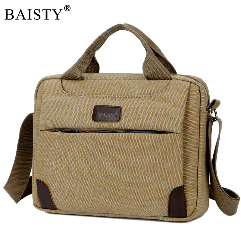 все цены на 2017 Fashion Vintage Messenger Bags Computer Laptop Handbag Men Casual Business Briefcase Canvas Shoulder Bag Men's Travel Bags онлайн