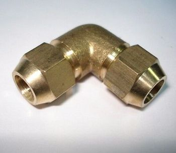 Flare Tube OD 12mm x Flare Tube OD 12mm Elbow Brass Flare Male Connector Tube Pneumatic Fitting with Short Flare Nut фото