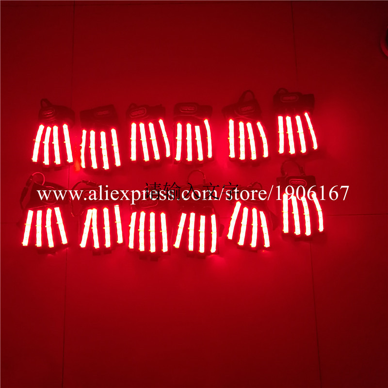 Led Gloves Stage Show Props LED Light up Gloves Glow Party Supplies02