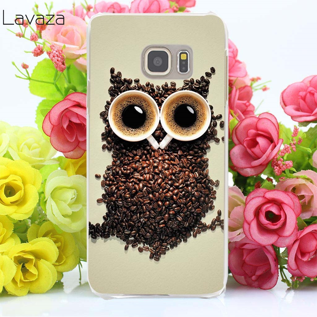 Lavaza 27af Cute Owls Cartoon Animal love flower Hard Case Cover for Samsung Galaxy S3 S4 S5 Mini S6 S7 S8 S9 Edge Plus